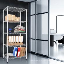 Modernes weißes verstellbares Stahldoppelseitiges Lack-Buch-Regal, NSF-Zulassung