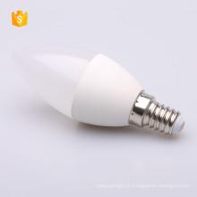 C37 110-240candle a mené l'ampoule E14 / E27 de base d'éclairage