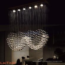 Fantaisie pendaison antique cuisine moderne cristal pendentif lumière 92003