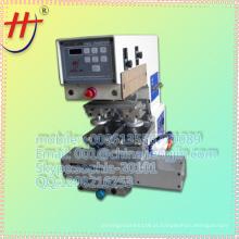 Mini impressora de almofada de mesa de 2 cores, impressora de almofada de 2 cores, impressora de almofadas 2 cores com copo de tinta HJ-125BY
