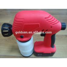 WIreless 18V Ni-Cd bateria Powered recarregável elétrica portátil mini pintura Sprayer Cordless Paint Spray Gun
