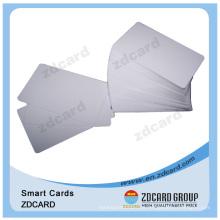 Cartão branco do PVC do tamanho padrão para a impressora térmica
