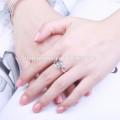 2017 Single Einfache Liebe 2 Gramm Gold Ring Schmuck für Frauen