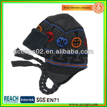 Bonnet beanie hiver hiver avec tresse BN-0058