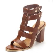 дамы высокий каблук необычные сандалии римского
