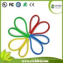 Luzes de néon LED com revestimento de PVC colorido
