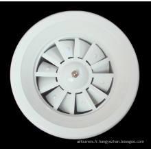 diffuseur à jet hélicoïdal HVAC