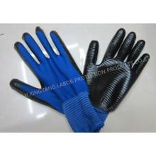 Zebra Streifen Natrile beschichtete Handschuh Arbeitsschutz Sicherheitshandschuhe (N6026)