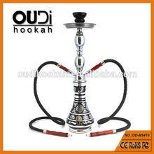 Unique design metal stem glass vase shisha wholesale hookah