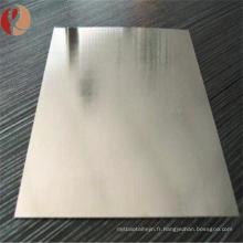 Plaque de zirconium pour industriel Astm B551