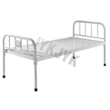 Покрытая стальная плоская кровать для больницы