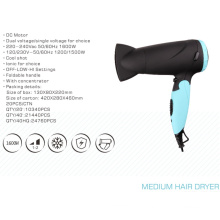 China Factory Wholesale Foldable DC Mini Hair Dryer for Travel