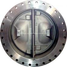 Válvula de retención de doble placa de acero dúplex