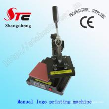 T-Shirt Logo máquina de transferência de calor Manual Logo Máquina de Imprensa Calor Marca Máquina de Impressão Stc-Tb01