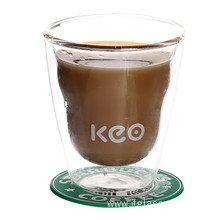 Hademade Clear Borosilicate Glass Coffee Mug