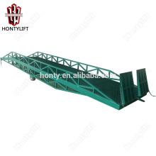 15 tonnes Chine fournisseur CE rampe de chantier hydraulique mobile pour camion / conteneur hydraulique chargement quai élévateur rampe
