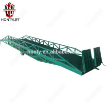 15 ton china supplier CE mobile hydraulic yard ramp for truck/hydraulic container loading dock ramp lift