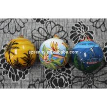 Bola de cristal pintada a mano de la bola de l adorno para reyes
