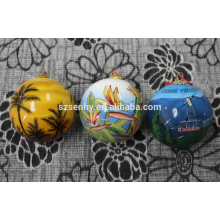 Рождество Ручной Мяч Покрашенный Стеклянный Шар Рождественские Украшения Мяч