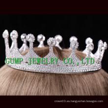 2016 Corona de cristal del Rhinestone de la tiara de las mujeres del partido