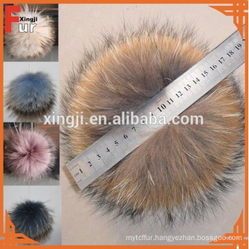 Top Quality Racoon fur pom pom ball