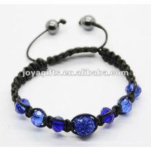 Bijoux de 2013, bijoux tissés faits à la main et shamballa en cristal