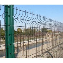 Vedação de segurança galvanizada e PVC