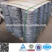 Hot dipped and Electro galvanized Boundary barbed wire fence