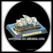 Magnifique modèle de bâtiment en cristal H028