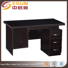 Foshan Lecong factory wholesale 1.4 meter melamine cheap used computer desk for sale