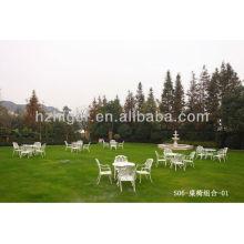 muebles de aluminio al aire libre de la mecedora del hierro del jardín