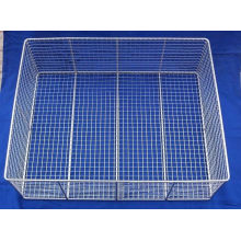 Customized Mesh Wire Basket Silver Chrome Plated For Foodstuff / Barbecue