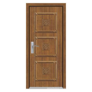 Porte en bois composite solide (YFM-8001)