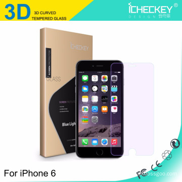 factory direct supply premium 3D Carbon fiber full cover tempered glass for iphone 6