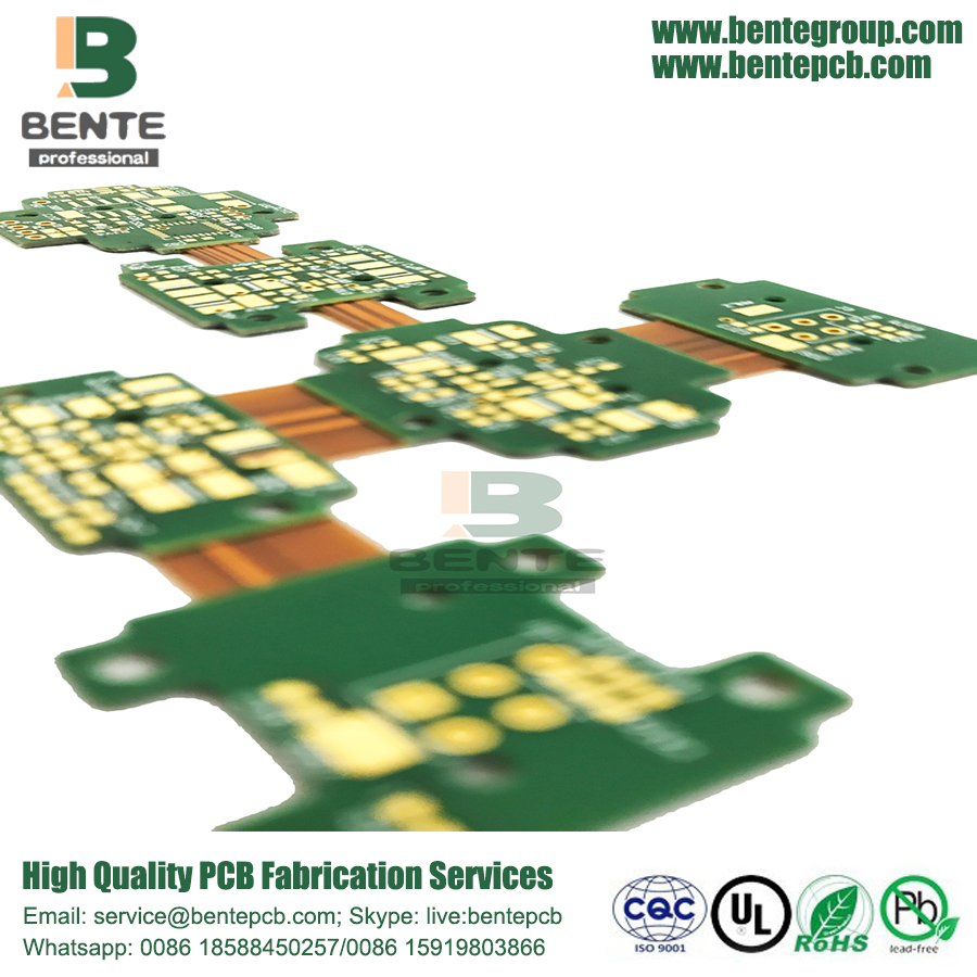 High-precision Rigid-flex 4Layers PCB ENIG