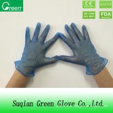 Blaue Puderfreie Vinyl PVC Handschuhe