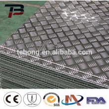 Prix d'usine 3005 feuille en aluminium gaufré