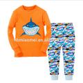 Новый Дизайн Светло-Синий С Длинным Рукавом Печатных Мультфильм Животных Дети Мальчик Пижамы