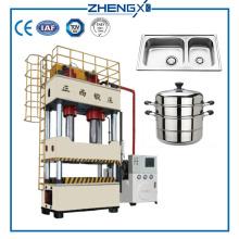 Machine de presse hydraulique à 4 colonnes pour évier de cuisine 800 tonnes