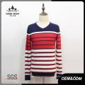 Men′s V-Neck Contrast Color Sweater