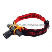 Alta calidad que acampa AA pila seca Cree LED faro 3W
