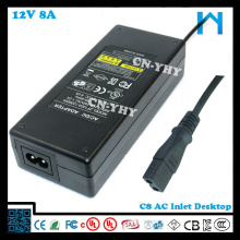 12V 8A AC DC ADAPTER(Power supply) with UL CE FCC GS SAA C-tick for mini refrigerator, Car refrigerator
