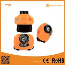 Commutateur mains libres T15 à l'extérieur 3PC AAA Lampes à tête de batterie Lampe à commande multifonction LED à capteur de capteur LED