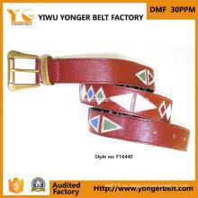 Cinturón bordado para mujer de moda de la fábrica al por mayor