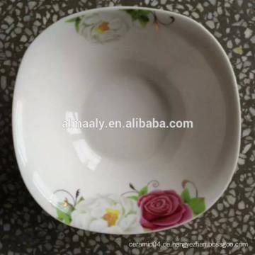 quadratische Keramik Schüssel China Fabrik