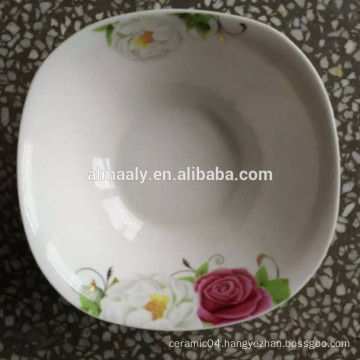 square ceramic bowl China factory