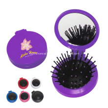 Promotional Compact Hair Brush with Mirror