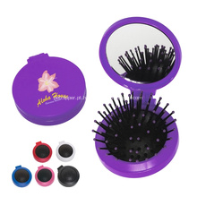 Escova de cabelo compacta promocional com espelho