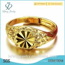 Prix de gros gros anneaux de fiançailles plaqués or