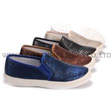 Zapatos de mujer ocio PU zapatos con suela de cuerda Snc-55006